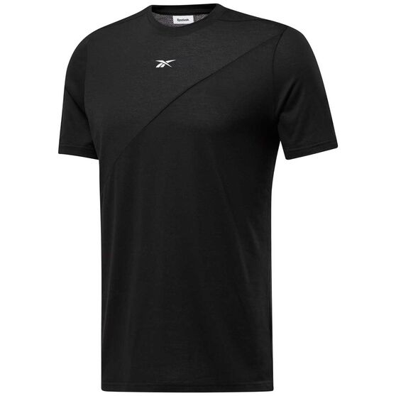 Reebok Mens Workout Ready Supremium Tee Black L, Black, rebel_hi-res