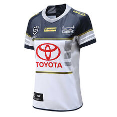 North Queensland Cowboys 2020 Womens Home Jersey White / Navy 8, White / Navy, rebel_hi-res