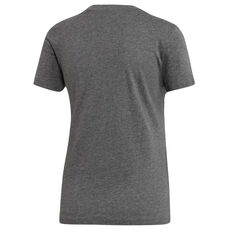adidas Womens Essentials Linear Slim Tee Grey XS, Grey, rebel_hi-res
