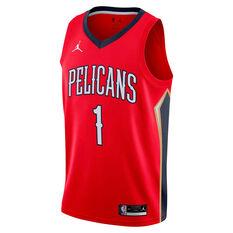 Jordan New Orleans Pelicans Zion Williamson 2020/21 Mens Statement Edition Swingman Jersey, Red, rebel_hi-res