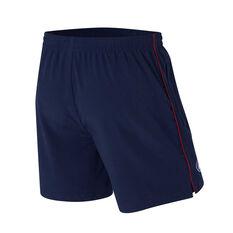 Brisbane Lions Mens Core Training Shorts Blue S, Blue, rebel_hi-res