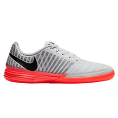 Nike Lunar Gato II Indoor Soccer Shoes White / Black US Mens 7 / Womens 8.5, White / Black, rebel_hi-res