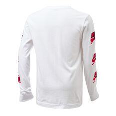 Nike Boys Jordan Jumpman Classics Long Sleeve Tee White/Red S, White/Red, rebel_hi-res
