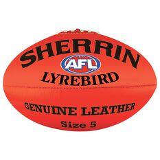 Sherrin Lyrebird Australian Rules Ball Red 2, Red, rebel_hi-res