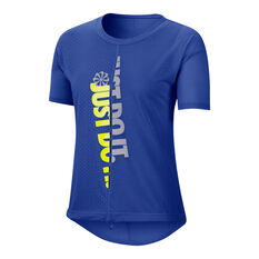Nike Womens Icon Clash Running Tee Blue XS, Blue, rebel_hi-res