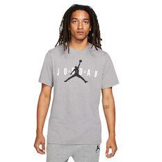 Jordan Air Wordmark Mens Tee Grey S, Grey, rebel_hi-res