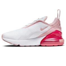 Nike Air Max 270 Kids Casual Shoes White/Pink US 11, White/Pink, rebel_hi-res