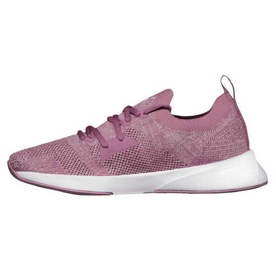 Puma Flyer Runner Engineered Knit Womens Running Shoes, Purple/White, rebel_hi-res
