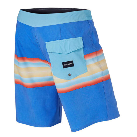 Quiksilver Mens Highline Six Channel 19 inch Board Shorts, Blue, rebel_hi-res