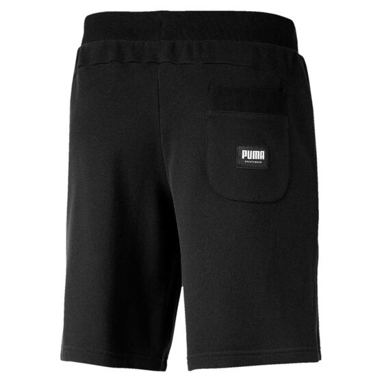 Puma Mens Athletics 9in Shorts, Black, rebel_hi-res
