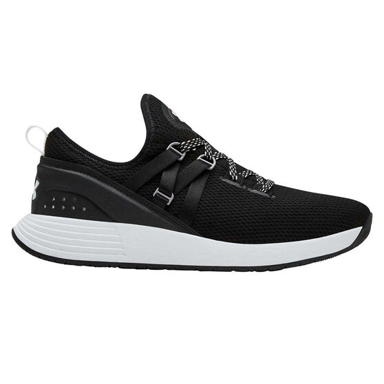 Under Armour Breathe Trainer Womens Training Shoes, Black / White, rebel_hi-res