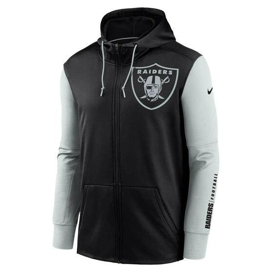 Nike Las Vegas Raiders 2020 Mens Therma Full Zip Hoodie, , rebel_hi-res