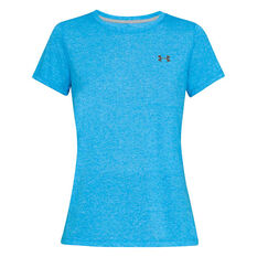 Under Armour Womens UA Microthread Train Twist Tee Blue XS, Blue, rebel_hi-res