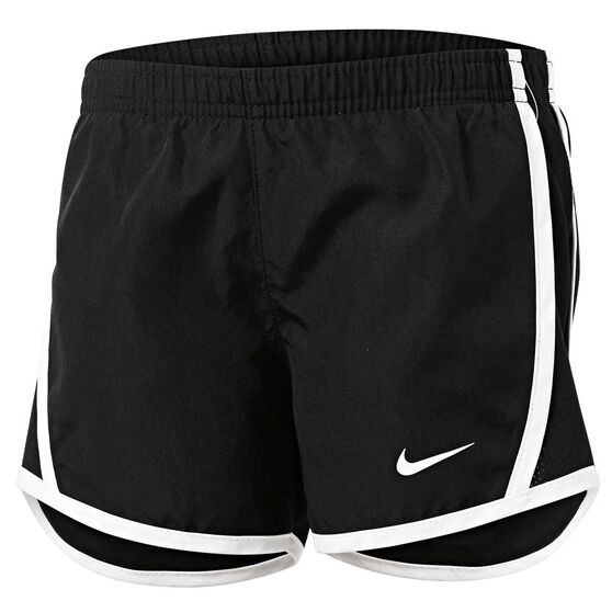 Nike Girls Dri-FIT Tempo Shorts, Black / White, rebel_hi-res