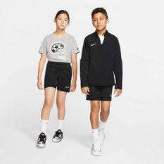 Nike Boys Dri-FIT Academy Football Shorts, Black / White, rebel_hi-res