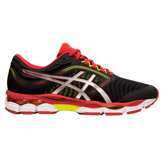 Asics GEL Ziruss 3 Mens Running Shoes, Black / Red, rebel_hi-res