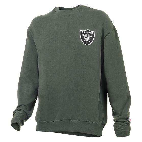 Las Vegas Raiders Mens Gamily Crew Sweatshirt, Grey, rebel_hi-res