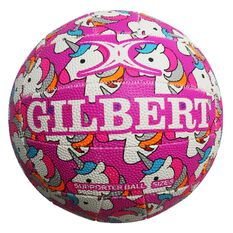 Gilbert Glam Unicorn Netball Size 4, , rebel_hi-res