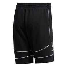 adidas Mens Donovan Mitchell Basketball Shorts Black S, Black, rebel_hi-res