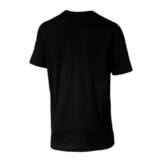 Puma Mens Essential Logo Tee, Black, rebel_hi-res