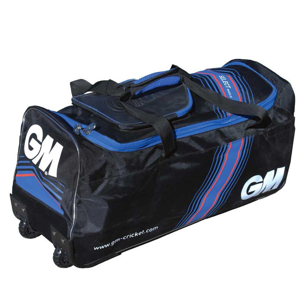 795def3a8 Gunn and Moore Select Junior Cricket Wheel Bag Black / Blue, , rebel_hi-res