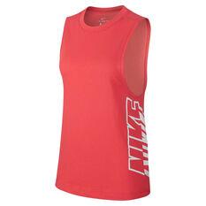 Nike Womens DriFIT Splash Tank Red XS, Red, rebel_hi-res