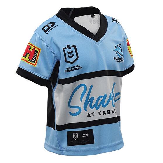 Cronulla-Sutherland Sharks 2021 Toddlers Home Jersey, Blue, rebel_hi-res