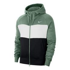 Nike Air Mens Full Zip Fleece Hoodie Silver XS, Silver, rebel_hi-res