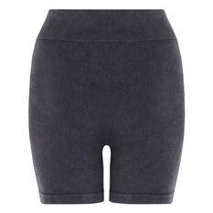 L'urv Womens Tranquil Seamless Bike Shorts Black XS, Black, rebel_hi-res