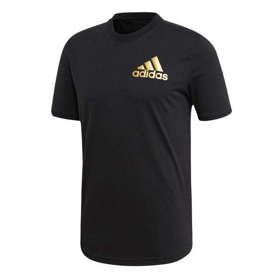 adidas Mens Sport ID Tee, Black, rebel_hi-res
