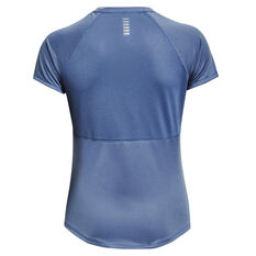 Under Armour Womens Speed Stride Graphic Tee Blue XS, Blue, rebel_hi-res