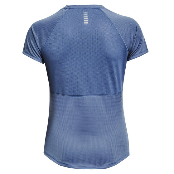 Under Armour Womens UA Speed Stride Graphic Tee, Blue, rebel_hi-res