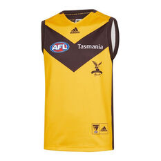 Hawthorn Hawks 2019/20 Mens Away Guernsey Yellow / Black S, Yellow / Black, rebel_hi-res