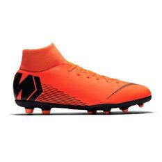 Nike Superfly VI Club MG Mens Football Boots Orange / White US 7.5 Adult, Orange / White, rebel_hi-res