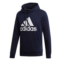 8ba610e5b8e adidas Mens Must Haves Badge of Sport French Terry Hoodie Navy / White S,  Navy