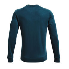 Under Armour Mens Rival Terry Scribble Crew, Blue, rebel_hi-res