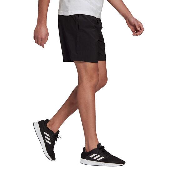 adidas Mens AEROREADY Essentials Chelsea Linear Logo Shorts, Black, rebel_hi-res