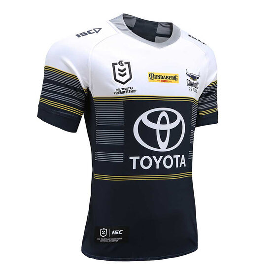 North Queensland Cowboys 2020 Mens Away Jersey, Navy / White, rebel_hi-res