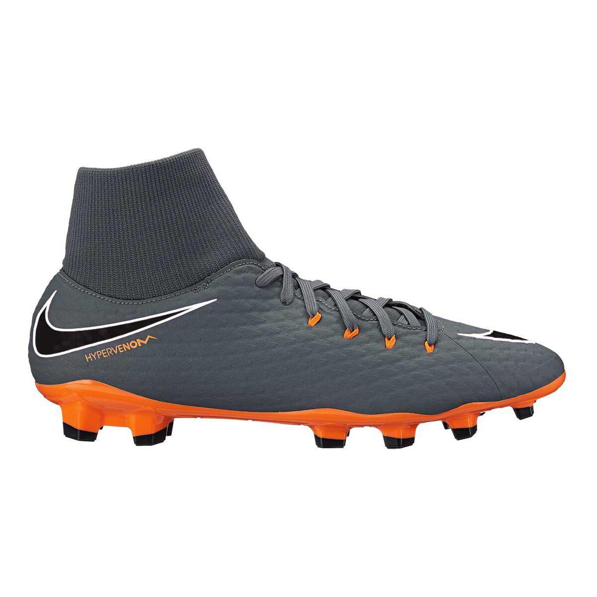 new concept f0316 9bed6 ... new zealand nike hypervenom phantom iii academy dynamic fit mens  football boots grey orange us 7