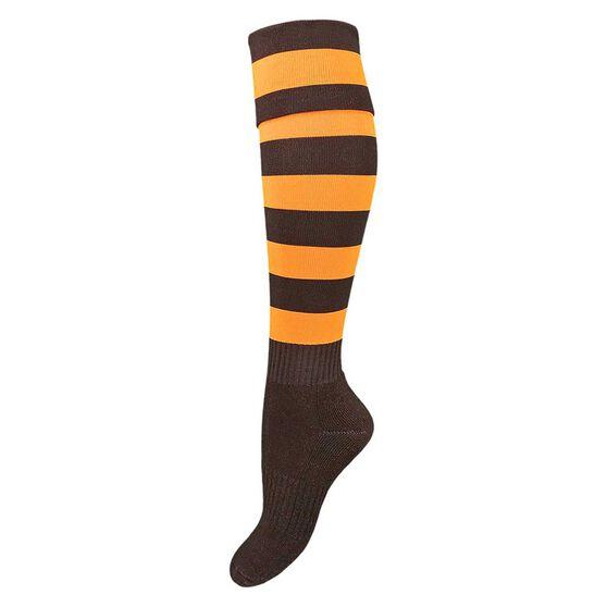 Burley Hawthorne Hawks Kids Football Socks, , rebel_hi-res
