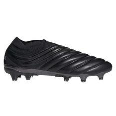 adidas Copa 19+ Football Boots Black / Silver US Mens 7 / Womens 8, Black / Silver, rebel_hi-res