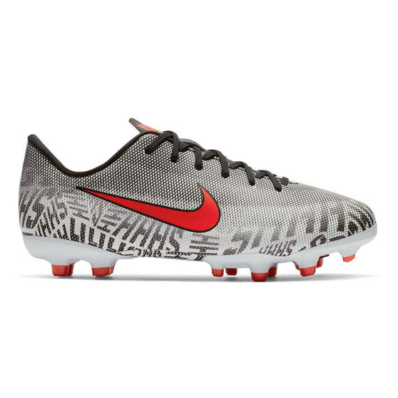 Nike Mercurial Vapor XII Academy Neymar Jr Kids Football Boots, White / Black, rebel_hi-res