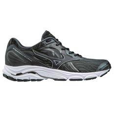 Mizuno Wave Inspire 14 Mens Running Shoes Black / Grey US 8, Black / Grey, rebel_hi-res