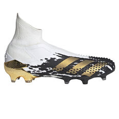 adidas Predator Mutator 20+ Football Boots White/Gold US Mens 7 / Womens 8, White/Gold, rebel_hi-res