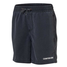 "Quiksilver Boys Surfwash 14"" Volley Board Shorts Black 8, Black, rebel_hi-res"