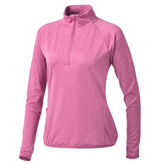 Ell & Voo Womens Hayley 1/4 Zip Brushed Fleece Top Pink XXS, Pink, rebel_hi-res