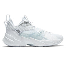 Nike Air Jordan Why Not Zer0.3 Mens Basketball Shoes White/Silver US 7, White/Silver, rebel_hi-res