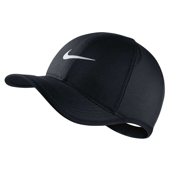 8f022e84c05 Nike Boys Featherlight Cap Black   White OSFA