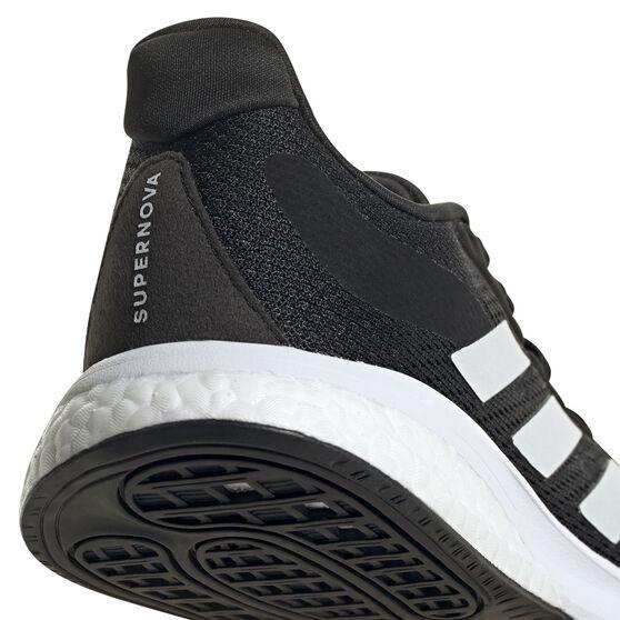 adidas Supernova Kids Running Shoes, Black/White, rebel_hi-res