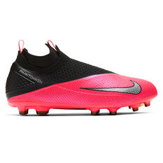 Nike Phantom Vision II Elite Kids Football Boots Black / Red US 4, Black / Red, rebel_hi-res
